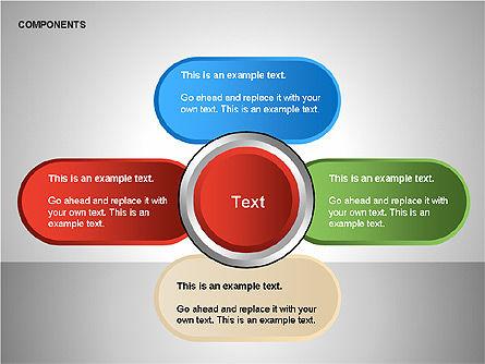 Components Diagram, Slide 10, 00206, Shapes — PoweredTemplate.com