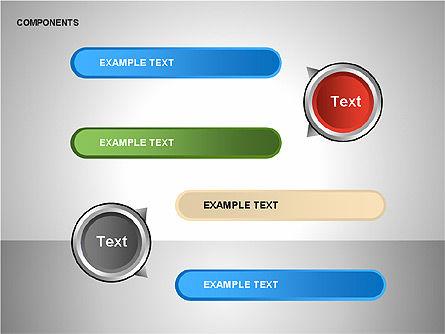 Components Diagram, Slide 11, 00206, Shapes — PoweredTemplate.com