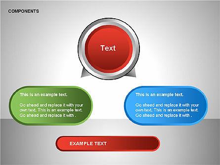 Components Diagram, Slide 12, 00206, Shapes — PoweredTemplate.com