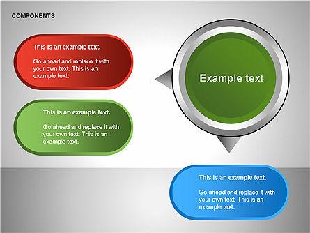 Components Diagram, Slide 13, 00206, Shapes — PoweredTemplate.com
