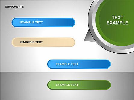 Components Diagram, Slide 15, 00206, Shapes — PoweredTemplate.com
