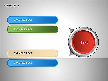 Components Diagram, Slide 6, 00206, Shapes — PoweredTemplate.com