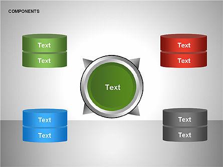 Components Diagram, Slide 7, 00206, Shapes — PoweredTemplate.com