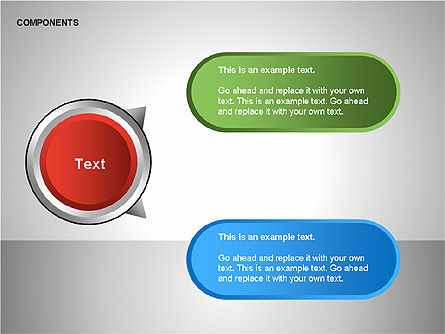 Components Diagram, Slide 8, 00206, Shapes — PoweredTemplate.com