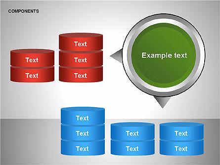 Components Diagram, Slide 9, 00206, Shapes — PoweredTemplate.com