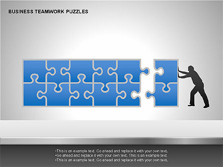 Puzzle Diagrams: Business Teamwork Puzzles Diagrams #00207