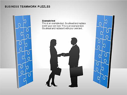 Business Teamwork Puzzles Diagrams, Slide 11, 00207, Puzzle Diagrams — PoweredTemplate.com