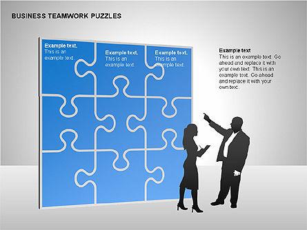 Business Teamwork Puzzles Diagrams, Slide 12, 00207, Puzzle Diagrams — PoweredTemplate.com