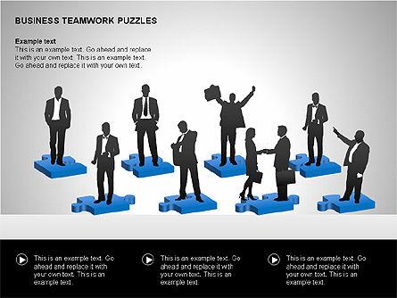 Business Teamwork Puzzles Diagrams, Slide 13, 00207, Puzzle Diagrams — PoweredTemplate.com