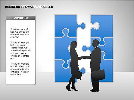 Business Teamwork Puzzles Diagrams, Slide 14, 00207, Puzzle Diagrams — PoweredTemplate.com