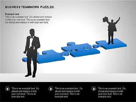 Business Teamwork Puzzles Diagrams, Slide 15, 00207, Puzzle Diagrams — PoweredTemplate.com