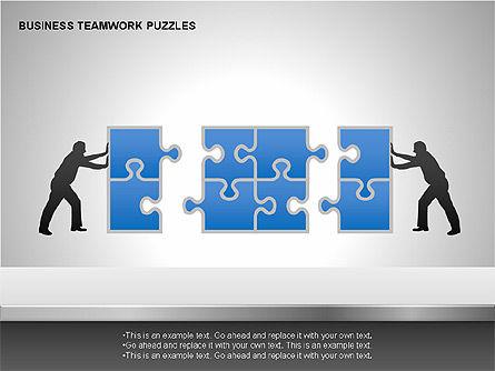 Business Teamwork Puzzles Diagrams, Slide 2, 00207, Puzzle Diagrams — PoweredTemplate.com