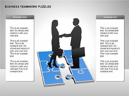 Business Teamwork Puzzles Diagrams, Slide 3, 00207, Puzzle Diagrams — PoweredTemplate.com