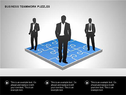Business Teamwork Puzzles Diagrams, Slide 4, 00207, Puzzle Diagrams — PoweredTemplate.com