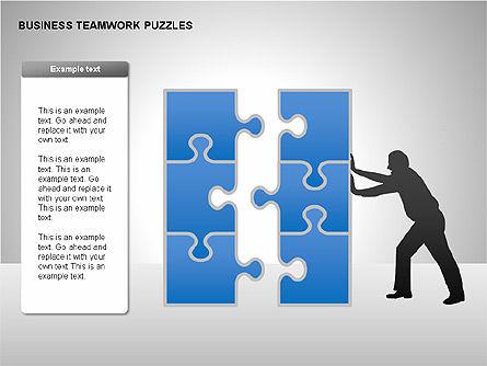 Business Teamwork Puzzles Diagrams, Slide 5, 00207, Puzzle Diagrams — PoweredTemplate.com