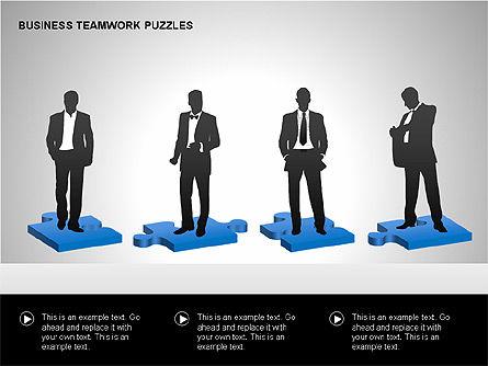 Business Teamwork Puzzles Diagrams, Slide 6, 00207, Puzzle Diagrams — PoweredTemplate.com