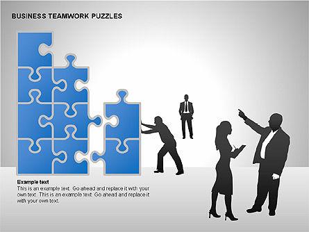 Business Teamwork Puzzles Diagrams, Slide 7, 00207, Puzzle Diagrams — PoweredTemplate.com