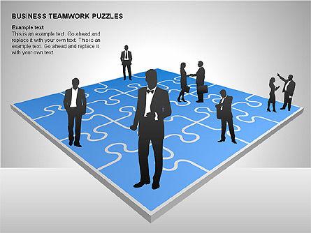 Business Teamwork Puzzles Diagrams, Slide 8, 00207, Puzzle Diagrams — PoweredTemplate.com