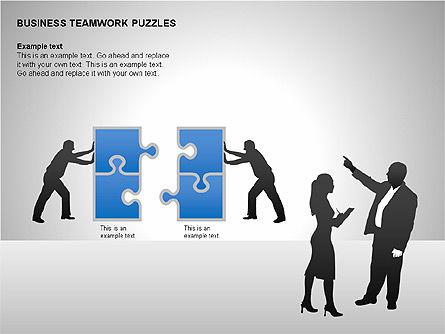 Business Teamwork Puzzles Diagrams, Slide 9, 00207, Puzzle Diagrams — PoweredTemplate.com