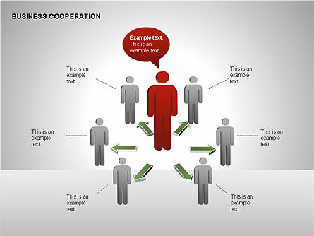 Business Cooperation Diagrams, 00208, Stage Diagrams — PoweredTemplate.com