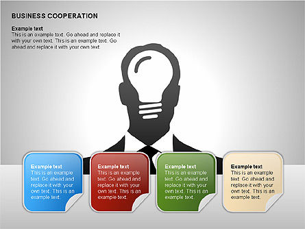 Business Cooperation Diagrams, Slide 10, 00208, Stage Diagrams — PoweredTemplate.com