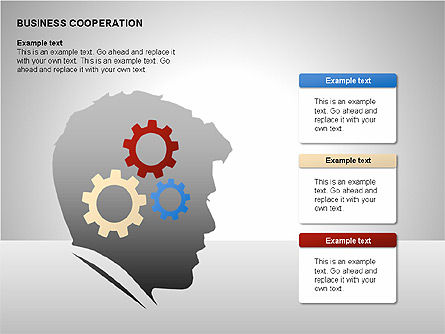 Business Cooperation Diagrams, Slide 11, 00208, Stage Diagrams — PoweredTemplate.com