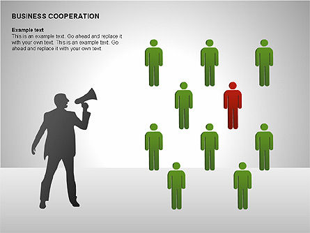 Business Cooperation Diagrams, Slide 12, 00208, Stage Diagrams — PoweredTemplate.com