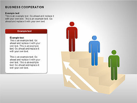 Business Cooperation Diagrams, Slide 13, 00208, Stage Diagrams — PoweredTemplate.com
