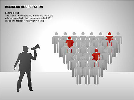 Business Cooperation Diagrams, Slide 14, 00208, Stage Diagrams — PoweredTemplate.com