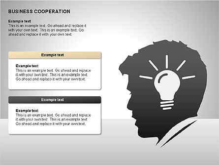 Business Cooperation Diagrams, Slide 15, 00208, Stage Diagrams — PoweredTemplate.com