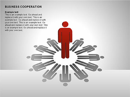 Business Cooperation Diagrams, Slide 2, 00208, Stage Diagrams — PoweredTemplate.com