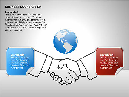 Business Cooperation Diagrams, Slide 5, 00208, Stage Diagrams — PoweredTemplate.com