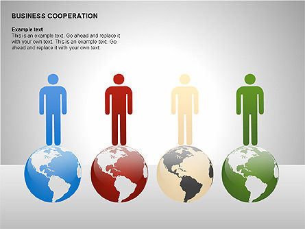 Business Cooperation Diagrams, Slide 6, 00208, Stage Diagrams — PoweredTemplate.com
