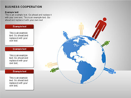 Business Cooperation Diagrams, Slide 7, 00208, Stage Diagrams — PoweredTemplate.com