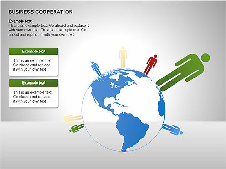 Business Cooperation Diagrams, Slide 8, 00208, Stage Diagrams — PoweredTemplate.com