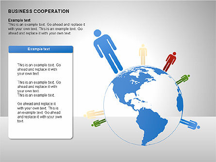 Business Cooperation Diagrams, Slide 9, 00208, Stage Diagrams — PoweredTemplate.com
