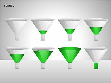 Funnel Diagrams, Slide 12, 00209, Stage Diagrams — PoweredTemplate.com