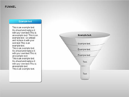 Funnel Diagrams, Slide 14, 00209, Stage Diagrams — PoweredTemplate.com