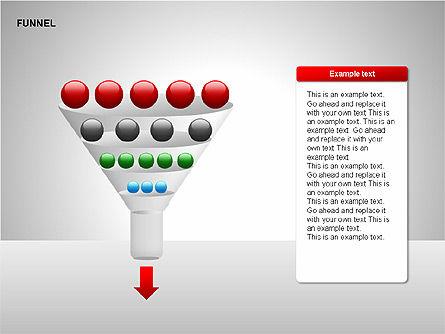 Funnel Diagrams, Slide 15, 00209, Stage Diagrams — PoweredTemplate.com
