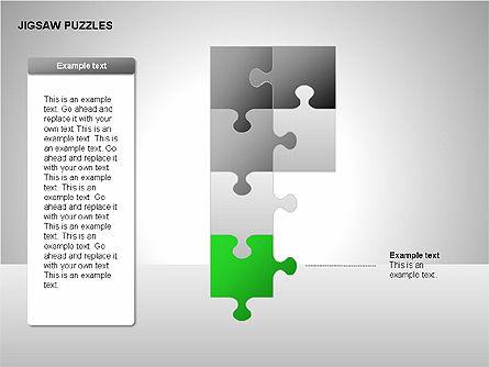 Jigsaw Puzzles Diagrams, Slide 10, 00211, Puzzle Diagrams — PoweredTemplate.com
