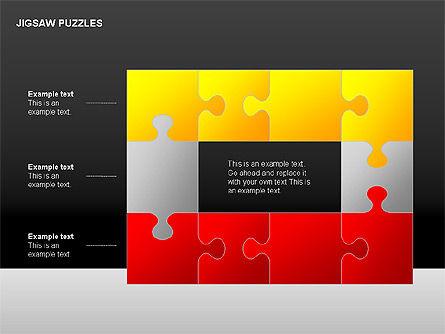 Jigsaw Puzzles Diagrams, Slide 11, 00211, Puzzle Diagrams — PoweredTemplate.com