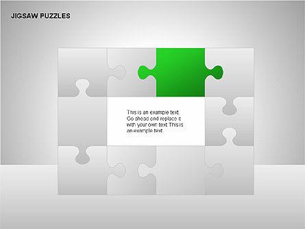 Jigsaw Puzzles Diagrams, Slide 12, 00211, Puzzle Diagrams — PoweredTemplate.com