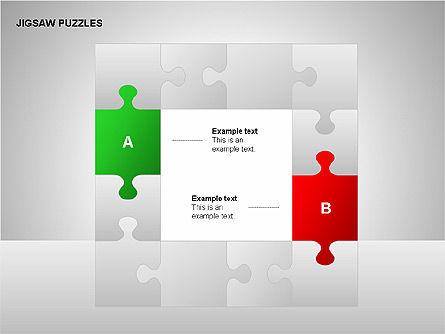 Jigsaw Puzzles Diagrams, Slide 13, 00211, Puzzle Diagrams — PoweredTemplate.com