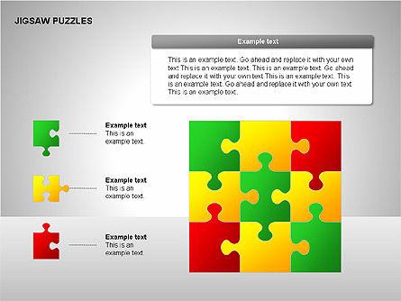 Jigsaw Puzzles Diagrams, Slide 14, 00211, Puzzle Diagrams — PoweredTemplate.com