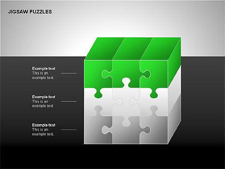 Jigsaw Puzzles Diagrams, Slide 15, 00211, Puzzle Diagrams — PoweredTemplate.com
