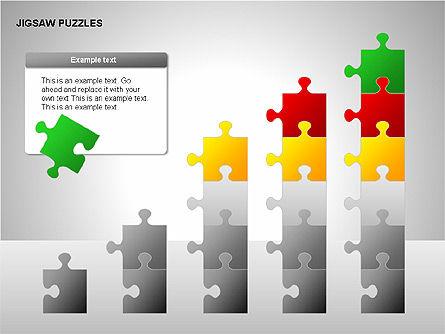 Jigsaw Puzzles Diagrams, Slide 16, 00211, Puzzle Diagrams — PoweredTemplate.com
