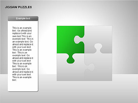 Jigsaw Puzzles Diagrams, Slide 2, 00211, Puzzle Diagrams — PoweredTemplate.com