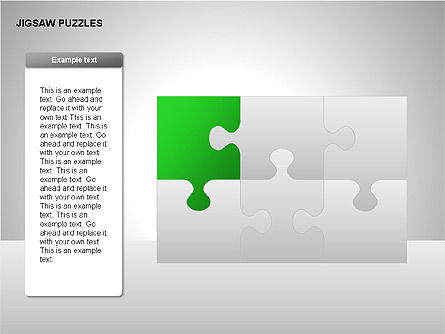 Jigsaw Puzzles Diagrams, Slide 3, 00211, Puzzle Diagrams — PoweredTemplate.com