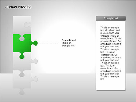 Jigsaw Puzzles Diagrams, Slide 5, 00211, Puzzle Diagrams — PoweredTemplate.com