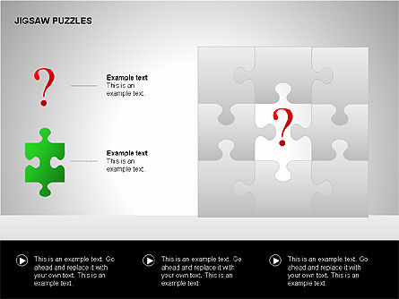 Jigsaw Puzzles Diagrams, Slide 8, 00211, Puzzle Diagrams — PoweredTemplate.com